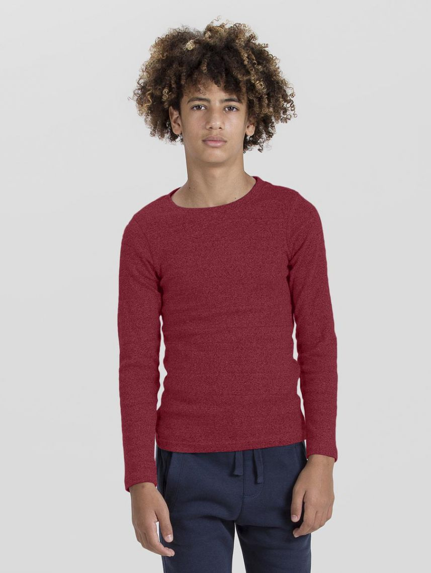BASIC CREW NECK RIB-KIDS