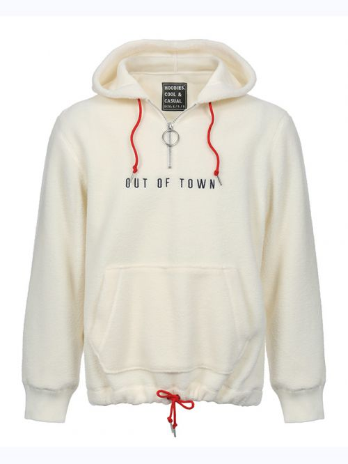 OUT OF TOWN FUR HOODIE