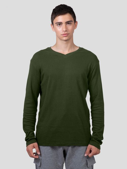 BASIC V NECK RIB-MEN