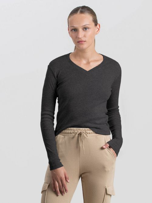 FITTED CROPPED RIB SHIRT