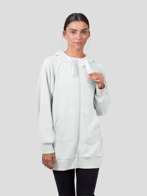 OVERSIZE ZIP UP SWEATSHIRT