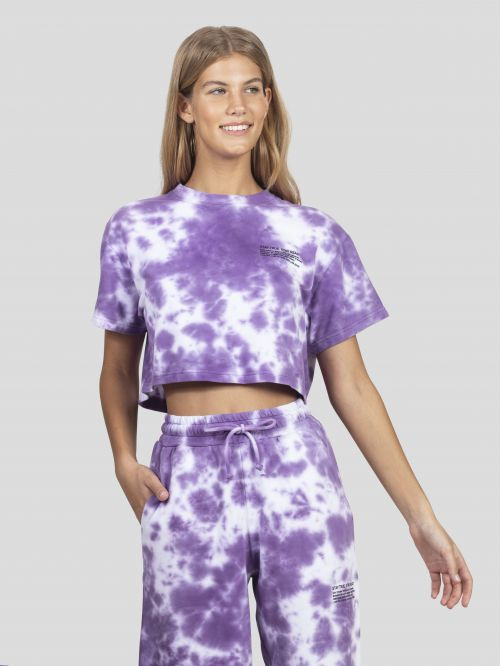 RIGHT ON TIE DYE CROPPED T