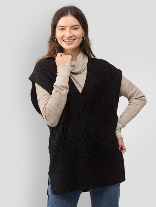 CHUNKY KNITTED VEST