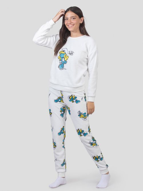 WOMEN FLUFFY PJ SET
