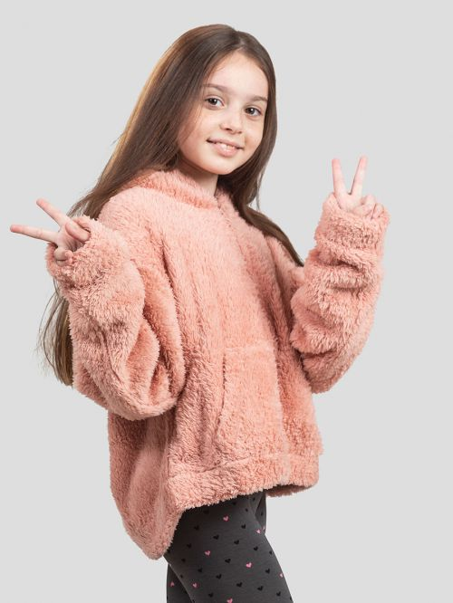KIDS FUR OUT CARDIGAN