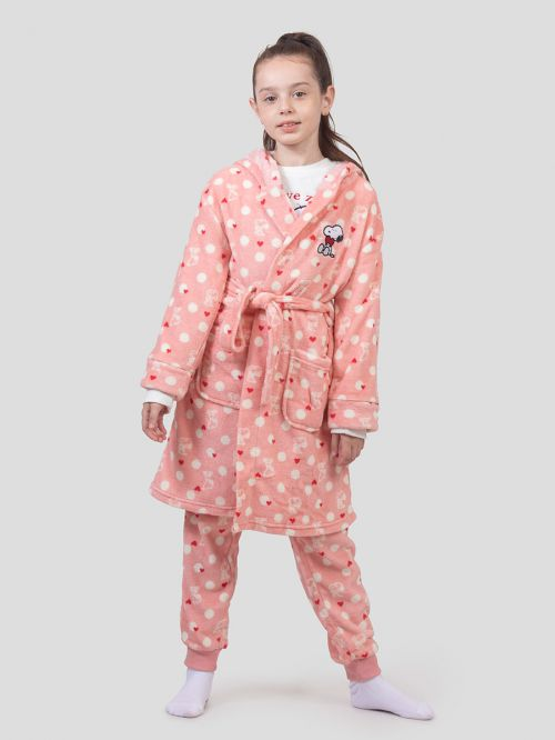 GIRLS FLUFFY ROBE